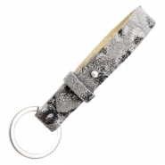 Cuoio key chain 15mm Rock Ridge Grey
