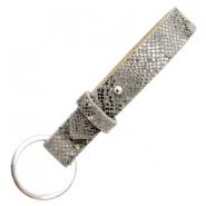 Cuoio key chain 15mm Snake Grey