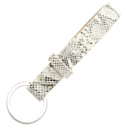 Cuoio key chain 15mm Snake White