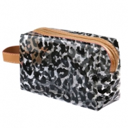 Make-up bag leopard Transparent-Black