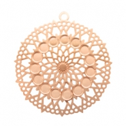 Bohemian charms round with loop 26mm Rose Gold