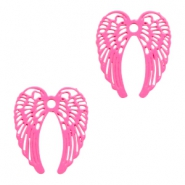 Bohemian charms angel wings Pink