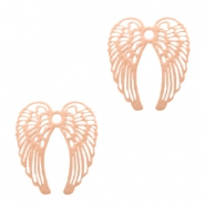 Bohemian charms angel wings Rose Gold