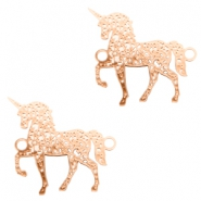 Bohemian connectors unicorn Rose Gold