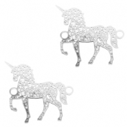 Bohemian connectors unicorn Silver