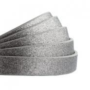 10 mm flt faux leather Metallic-Dark Grey