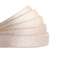 10 mm flat faux leather Metallic-Rose Gold