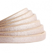 5 mm flat faux leather Metallic-Rose Gold