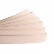 5 mm flat faux leather Metallic-Vintage Light Pink