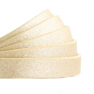10 mm flat faux leather Metallic-Light Gold