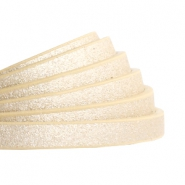 5 mm flat faux leather Metallic-Light Gold