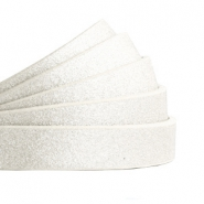 10 mm flt faux leather Metallic-Off White