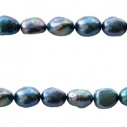 Freshwater pearls nugget 9-10mm Blue Purple
