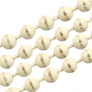 Ball chain gold line 3mm Cream White