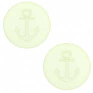 12 mm flat Polaris Elements cabochon Anchor Relaxing Green