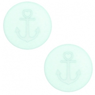 20 mm flat Polaris Elements cabochon Anchor Gossamer Green