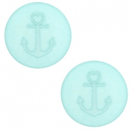 20 mm flat Polaris Elements cabochon Anchor Anise Green