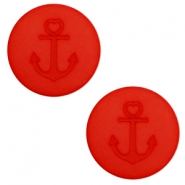 12 mm flat Polaris Elements cabochon Anchor Candy Red