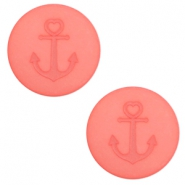 20 mm flat Polaris Elements cabochon Anchor Salmon Rose