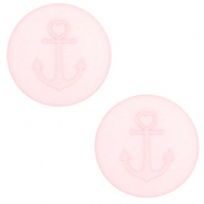 20 mm flat Polaris Elements cabochon Anchor Whisper Pink