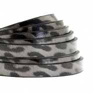 5 mm flat faux leather leopard print Taupe Grey
