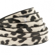 5 mm flat faux leather leopard print Off White