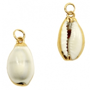 Shell bead specials Kauri Off White-Gold
