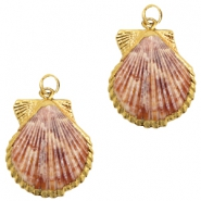 Shell bead specials Scalop Rose-Gold