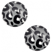 Basic cabochon 12mm Leopard-Grey