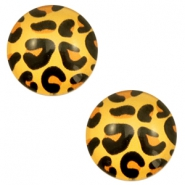Basic cabochon 20mm Leopard-Gold Orange