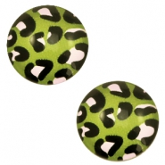 Basic cabochon 20mm Leopard-Green