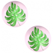 Basic cabochon 20mm Tropical leaf-Palace Rose