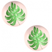 Basic cabochon 12mm Tropical leaf-Creamy Peach