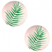 Basic cabochon 20mm Fern Leaf-Creamy Peach