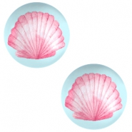 Basic cabochon 12mm Shell-Airy Blue