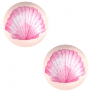 Basic cabochon 20mm Shell-Coral Peach