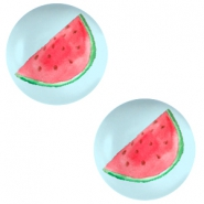 Basic cabochon 12mm Watermelon-Sky Blue