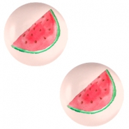 Basic cabochon 12mm Watermelon-Light Coral Peach