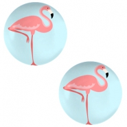 Basic cabochon 12mm Flamingo-Sky Blue