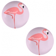Basic cabochon 20mm Flamingo-Lilac Purple