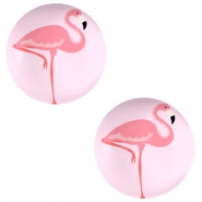 Basic cabochon 12mm Flamingo-Pink