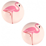 Basic cabochon 20mm Flamingo-Coral Peach