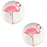 Basic cabochon 12mm Flamingo-Light Grey