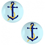 Basic cabochon 12mm Anchor-Sky Blue