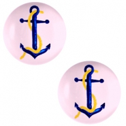Basic cabochon 20mm Anchor-Pink