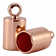 DQ end cap 6.5mm DQ Rose gold plated