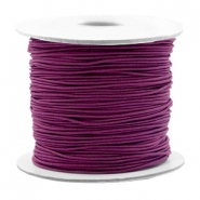 Coloured elastic cord 0.8mm Aubergine Purple