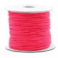 Coloured elastic cord 0.8mm Fluor Rose
