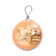 Charms with seastar 20mm Light Orange