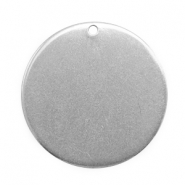 Charms stainless steel 25mm Silver